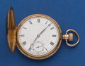 Timepieces:Pocket (post 1900), Swiss 9k Gold 49.5 mm Hunter's Case Pocket Watch. ...