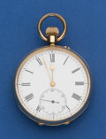 Timepieces:Pocket (post 1900), Swiss 49 mm 18k Gold Open Face Pocket Watch. ...