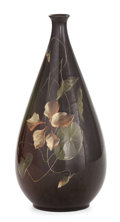 Ceramics & Porcelain, American:Modern  (1900 1949)  , AN OWENS ART POTTERY VASE . Decoration attributed to Edith Bell .Owens Pottery, Zanesville, Ohio, circa 1900. Marks: (Owen...