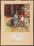 Baseball Collectibles:Others, Baseball Hall of Famers Multi Signed Norman Rockwell Display....