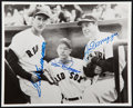 Baseball Collectibles:Photos, Ted Williams and the DiMaggio Brothers Multi Signed Photograph....
