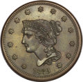 Large Cents, 1839 1C Head of 1840 MS64+ Brown NGC. N-8, R.1. MRB MS63. ...