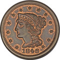 Large Cents, 1846 1C Small Date MS64 Red and Brown PCGS. N-1, R.1. MRB MS63. ...