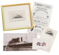 Decorative Arts, British:Other , R.M.S. LUSITANIA EPHEMERA COLLECTION . 5-1/4 x 10-1/4 inches (13.3x 26.0 cm) (large postcard). ...