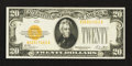 Small Size:Gold Certificates, Fr. 2402 $20 1928 Gold Certificate. Very Fine-Extremely Fine.. ...