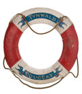Decorative Arts, British:Other , H.M.S. TYNWALD ORIGINAL LIFE RING . Diameter 30 inches (76.2 cm)....