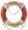 Decorative Arts, British:Other , FOUR ORIGINAL LIFE RINGS: S.S. AMERICA, S.S. IBERIA, G. MARCONI,CARMANIA . Average diameter 30 inches (76.2 cm). ... (Total: 4Items)