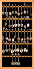 Decorative Arts, British:Other , HISTORIC OCEAN LINER SOUVENIR SPOON COLLECTION . Length of longest5-1/2 inches (14.0 cm) . ...