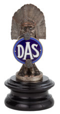 Decorative Arts, British:Other , BALUICHON DAS INDIAN AUTOMOBILE MASCOT . 5 inches height ofornament (12.7 cm). ...
