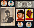Baseball Cards:Lots, 1962 Salada Baseball Coins, 1962 Topps Bucks, 1963 Kahn's and 1963Topps Peel Offs Collection (84)....