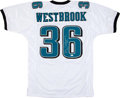 Football Collectibles:Uniforms, Brian Westbrook Signed Jersey....