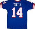 Football Collectibles:Uniforms, Y.A. Tittle Signed Jersey....