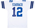 Football Collectibles:Uniforms, Roger Staubach Signed Jersey....