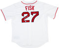 Baseball Collectibles:Uniforms, Carlton Fisk Signed Jersey....