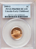 Proof Lincoln Cents, 2009-S 1C Lincoln Bi-Centennial Proof Set PR 69 Red Deep CameoPCGS. This set includes: 2009-S 1C Lincoln- Early Child... (Total:4 coins)