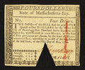 Colonial Notes:Massachusetts, Massachusetts May 5, 1780 $4 About New.. ...