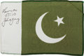 Transportation:Space Exploration, Gemini 10 Flown Flag of Pakistan Directly from the Personal Collection of Mission Commander John Young, Signed and Certified....