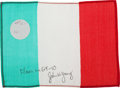 Transportation:Space Exploration, Gemini 10 Flown Flag of Italy Directly from the Personal Collectionof Mission Commander John Young, Signed and Certified. ...