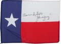 Transportation:Space Exploration, Apollo 16 Flown Texas State Flag Directly from the PersonalCollection of Mission Commander John Young, Signed andCertified....