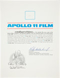 Transportation:Space Exploration, Apollo 11 Lunar Module Flown Camera Film Fragment on a Certificate of Authenticity....