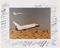 Autographs:Celebrities, Space Shuttle Enterprise Large Color Landing Photo Signed by Fifty-Six Astronauts Directly from the Personal Colle...