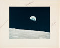 "Autographs:Celebrities, Apollo 8 Crew-Signed Large Color ""Earthrise"" Photo Directly fromthe Personal Collection of Astronaut Jack Lousma, Signed and ..."
