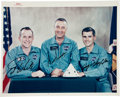 Autographs:Celebrities, Apollo 1 Crew-Signed Color NASA Glossy Photo from the Personal Collection of Mission Pilot Roger Chaffee....