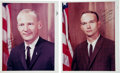 Autographs:Celebrities, Apollo 11 Signed Individual Color NASA Glossy Photos of Aldrin and Collins from the Personal Collection of Astronaut Roger Cha...