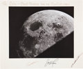 Autographs:Celebrities, Apollo 8 Large Moon Photo Crew-Signed on the Mat, Directly from thePersonal Collection of Lola Morrow, Secretary to the Early...