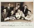 "Autographs:Celebrities, ""Mercury Seven"" NASA Astronaut Group One Photo Signed by All. ..."