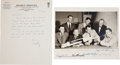 "Autographs:Celebrities, ""Mercury Seven"" NASA Astronaut Photo Signed by All with Letter ofTransmittal from Wally Schirra...."
