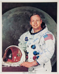 Autographs:Celebrities, Apollo 11: Neil Armstrong Signed White Spacesuit Color Photo. ...