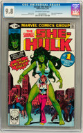 Modern Age (1980-Present):Superhero, The Savage She-Hulk #1 (Marvel, 1980) CGC NM/MT 9.8 Off-white towhite pages....