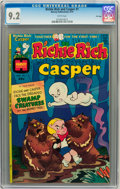 Bronze Age (1970-1979):Cartoon Character, Richie Rich and Casper #1 File Copy (Harvey, 1974) CGC NM- 9.2White pages....