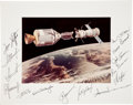 Autographs:Celebrities, Apollo-Soyuz Test Project Flight and Backup Crews-Signed ColorPhoto Directly from the Personal Collection of ASTP Backup Dock...