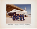 Autographs:Celebrities, Space Shuttle Enterprise Approach and Landing TestCrews-Signed Color Photo Directly from the Personal Collection ...