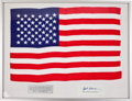 Transportation:Space Exploration, Skylab II (SL-3) Flown Large-Size American Flag Directly from thePersonal Collection of Mission Pilot Jack Lousma, Signed. ...