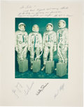 Autographs:Celebrities, Gemini 3 (Molly Brown) Color Photo Signed by the Crew andBackup Crew on the Mat, Directly from the Personal Colle...