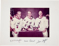 Autographs:Celebrities, Apollo-Soyuz Test Project Color U.S. Crew Photo Signed on the Mat,Directly from the Personal Collection of Lola Morrow, Secre...
