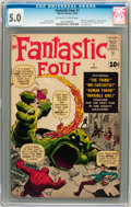 Silver Age (1956-1969):Superhero, Fantastic Four #1 (Marvel, 1961) CGC VG/FN 5.0 Off-white to whitepages....