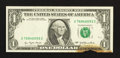 Error Notes:Partial Third Printing, Fr. 1909-G $1 1977 Federal Reserve Note. Uncirculated.. ...
