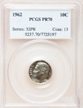 Proof Roosevelt Dimes: , 1962 10C PR70 PCGS. PCGS Population (40). NGC Census: (0). Mintage:3,218,019. Numismedia Wsl. Price for problem free NGC/P...