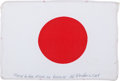 Transportation:Space Exploration, Apollo 15 Flown National Flag of Japan Directly from the PersonalCollection of Mission Command Module Pilot Al Worden, Signed...