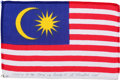 Transportation:Space Exploration, Apollo 15 Flown Flag of Malaysia Directly from the Personal Collection of Mission Command Module Pilot Al Worden, Signed and C...