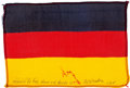 Transportation:Space Exploration, Apollo 15 Flown National Flag of Germany Directly from the PersonalCollection of Mission Command Module Pilot Al Worden, Sign...