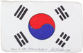 Transportation:Space Exploration, Apollo 15 Flown National Flag of South Korea Directly from thePersonal Collection of Mission Command Module Pilot Al Worden, ...