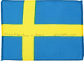 Transportation:Space Exploration, Apollo 15 Flown Flag of Sweden Directly from the Personal Collection of Mission Command Module Pilot Al Worden, Signed and Cer...
