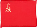 Transportation:Space Exploration, Apollo 15 Flown Flag of the Soviet Union Directly from the Personal Collection of Mission Command Module Pilot Al Worden, Sign...
