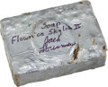 Transportation:Space Exploration, Skylab II (SL-3) Flown Bar of Soap Directly from the PersonalCollection of Mission Pilot Jack Lousma, Signed and Certified. ...