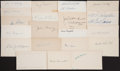 Baseball Collectibles:Others, Baseball Greats Signed Index Cards Lot of 21. ...